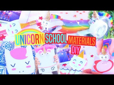 Unicorn School Supplies DIY's
