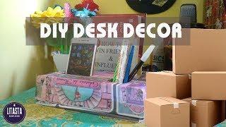 Keren !! Ide kreatif dekorasi meja kerja dari kardus bekas || DIY DESK DECOR