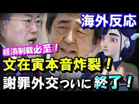 【海外の反応】韓国の文在寅、本音炸裂!「南北共闘で日本を…」経済制裁不可避/日本の謝罪外交/8月6日について