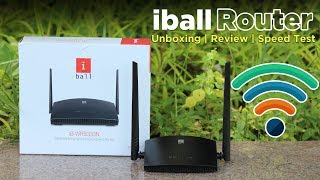 iBall iB-WRB333N 300M Router Unboxing Review Speed Test Set Up Dekh Review Hindi Urdu