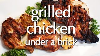 Dinner Party Tonight Shorts: Grilled Chicken under a brick