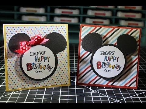 Happy Happy Birthday Mickey Card