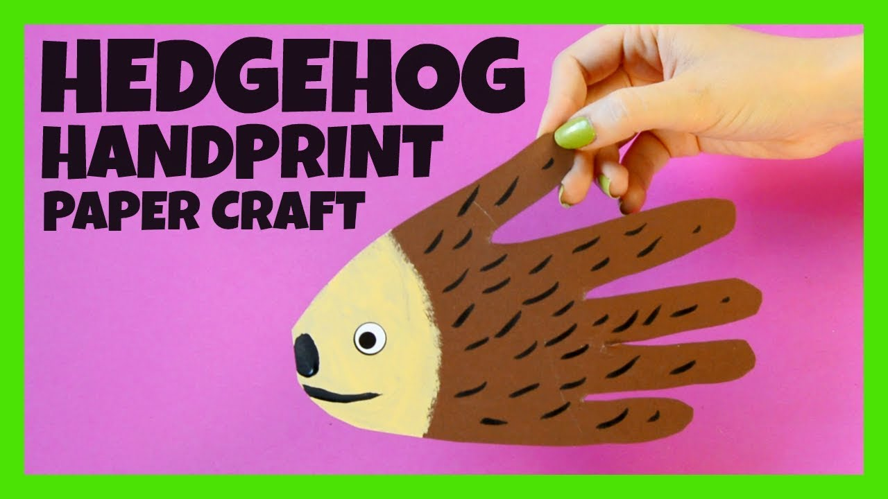 Handprint Hedgehog Craft Fall Crafts For Kids