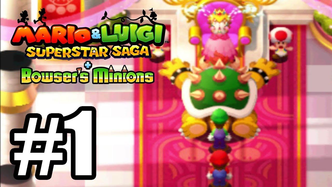 Mario Luigi Superstar Saga Bowser Minions Gameplay Walkthrough Part 1 3ds