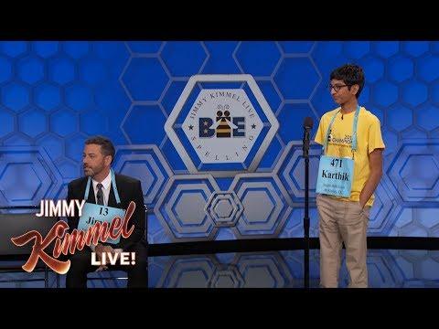 Jimmy Kimmel vs. 14-Year-Old Spelling Bee Winner