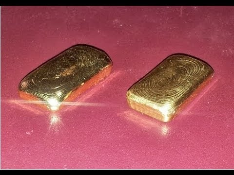 Melting Gold Casting 1 Troy Ounce Bullion Bar 24 Karat