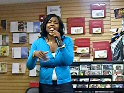 Epiphany Rapping At Bookstore Event--www.xlibris.com/SISTERISSUES.html