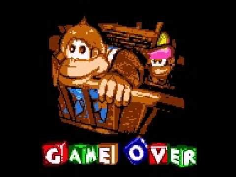 donkey kong gb dinky kong and dixie kong game over screen ...