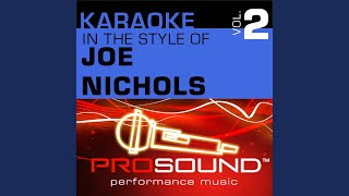 Brokenheartsville (Karaoke With Background Vocals) (In the style of Joe Nichols)