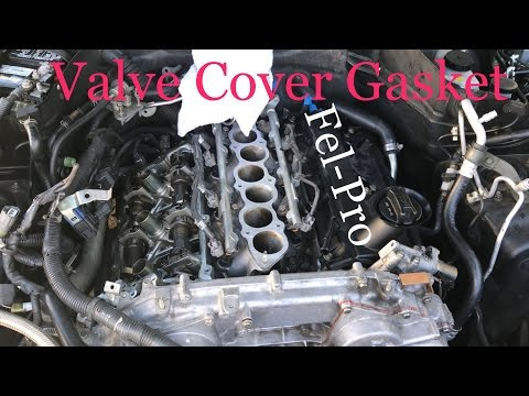 G35 / VQ35DE- HOW TO replace valve cover gasket - YouTube