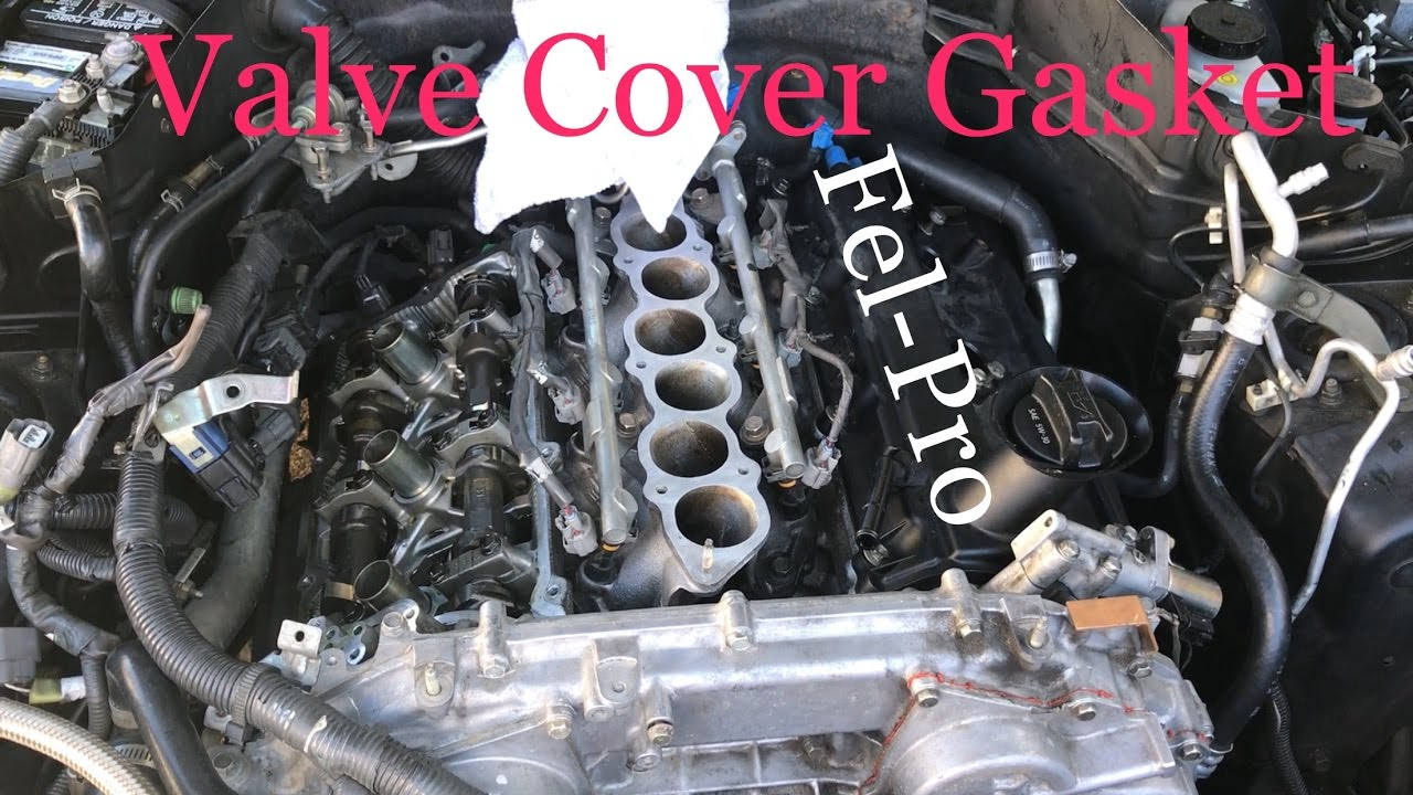 G35  VQ35DE HOW TO replace valve cover gasket  YouTube