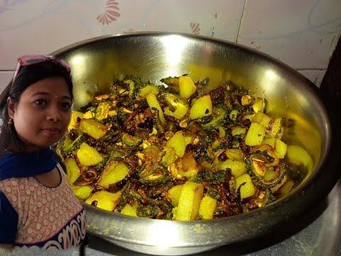 Bitter Gourd Potato Bhujia - Karela aur aloo ki sabzi - Bitter Gourd Recipe