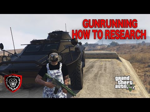 HOW TO DO RESEARCH IN GTA 5 ONLINE GUNRUNNER DLC| HOW TO UNLOCK NEW GUN CAMO| HOW TO UPGRADE WEAPONS