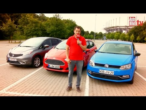 ford fiesta vs nissan note vs vw polo 2014 youtube. Black Bedroom Furniture Sets. Home Design Ideas