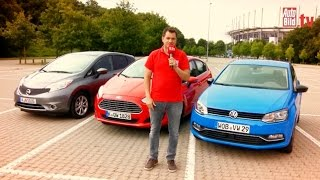 Ford Fiesta vs. Nissan Note vs. VW Polo 2014