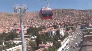 Teleferico La Paz Bolivia 2014 Linea Roja 1ra parte