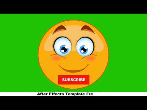 Smiley - Face Green Screen - Motion Graphics - After Effects Template - 100% Free Download