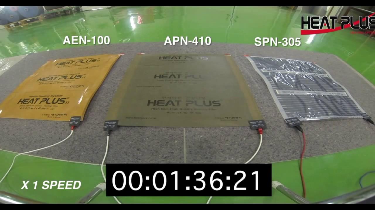 Нагревательная пленка Heat Plus. Испытание на термостойкость