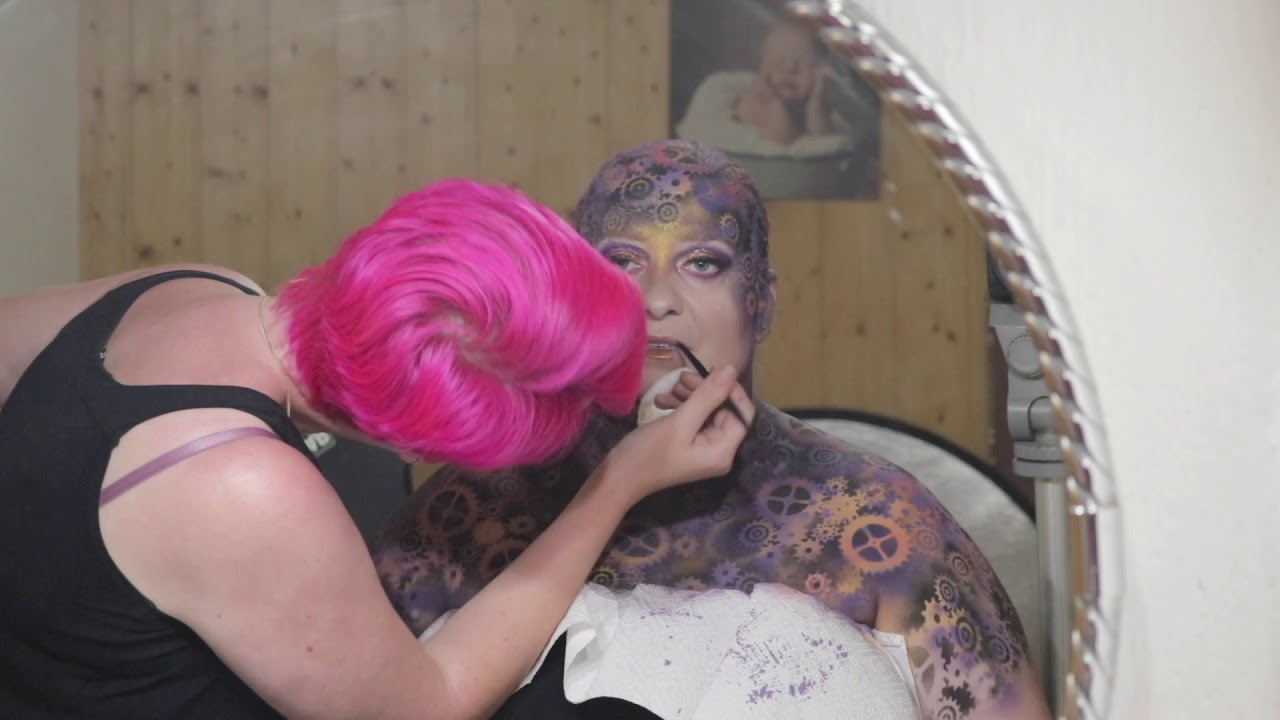 Making Of Extrem Make Up Exoten Fotoshooting Mit Schlange Und