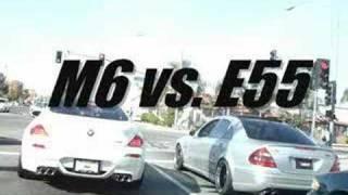 BMW M6 vs. MErcedes Benz AMG E55 teaser HMS myMBonline.com BMWvsMBZ.com VERSUS