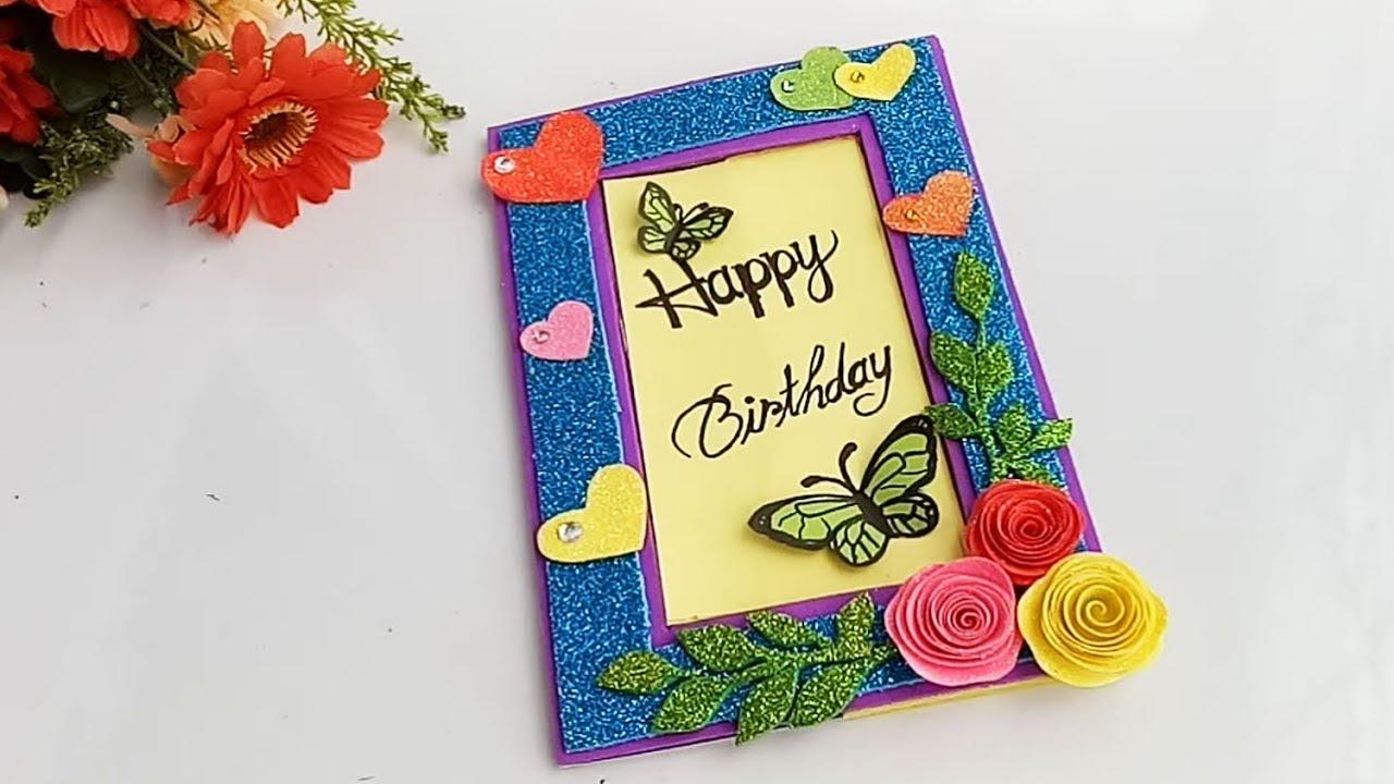 how to make beautiful birthday cardbirthday card idea