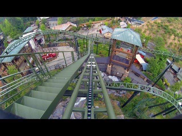 Firechaser Express Roller Coaster Multi Angle POV Dollywood Tennessee