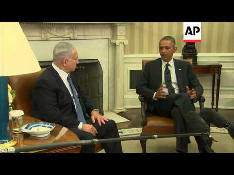 Obama and Israel premier Netanyahu dIscuss Iran, civilian Palestinian deaths