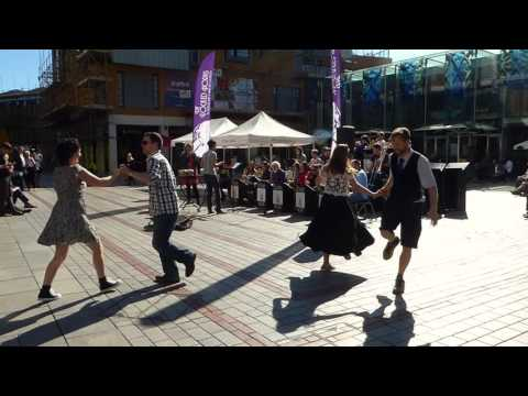 d43d2df3d78 Jiving and hopping to the Locked Horns in Princesshay Square