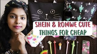Romwe & Shein Cute Things for Cheap (All under Rs 300) - Huge Stationery Haul India 2018 | AdityIyer