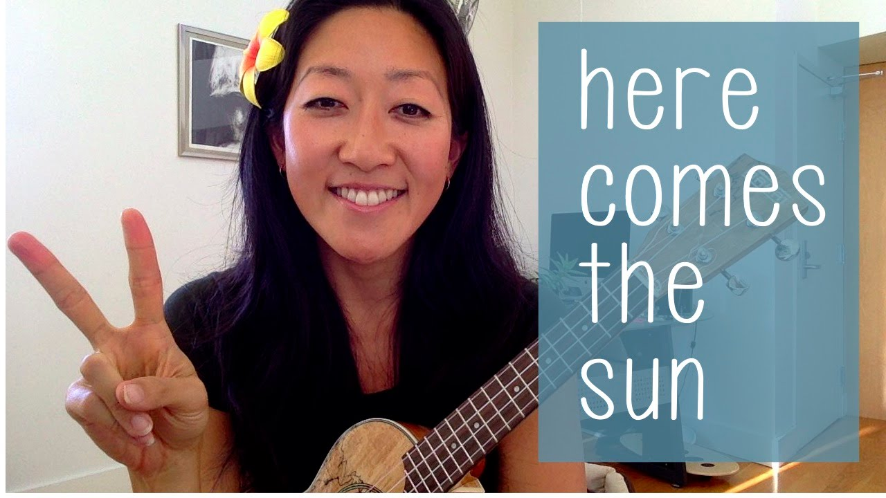 Here Comes The Sun The Beatles Ukulele Tutorial Youtube