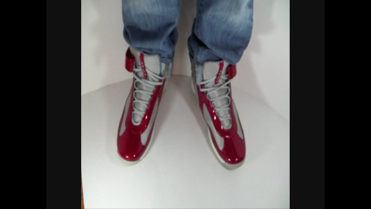 Prada Sneaker High Top Patent Leather