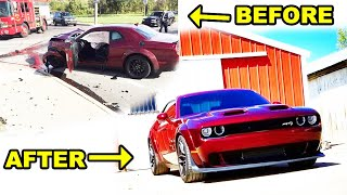 Building a Destroyed 2018 Challenger Hellcat Widebody in Minutes