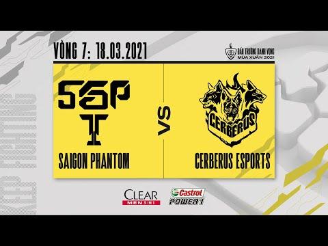 Saigon Phantom vs Cerberus Esports - Vòng 7 ngày 1 [18.03.2021] | ĐTDV mùa Xuân 2021