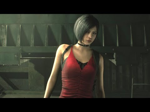 RESIDENT EVIL 2 REMAKE - Leon and Ada Cutscene (LEON ADA Vs Mr X)