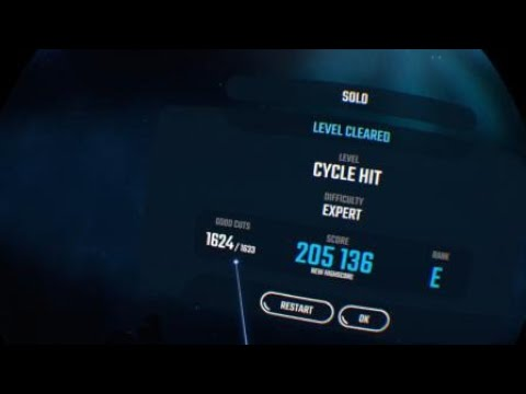 Beat Saber: CYCLE HIT 100% (Expert, Faster Song, No Arrows)