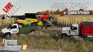 🔴Custom Harvest in Wisconsin with the Combine XPerience Mod