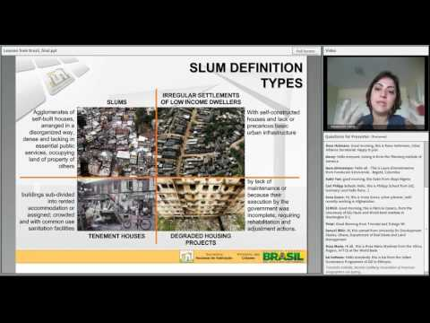 Lessons from Brazil Scaling Up Slum Upgrading and Prevention through National Policies and Program