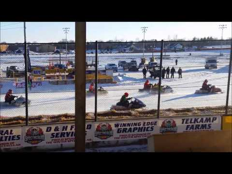 Ice Oval Snowmobile Racing
