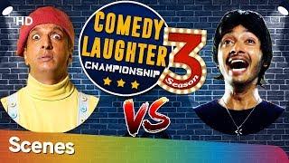 Javed Jaffrey VS Shreyas Talpade Comedy Laughter Championship Season 03 -Shemaroo Bollywood Comedy