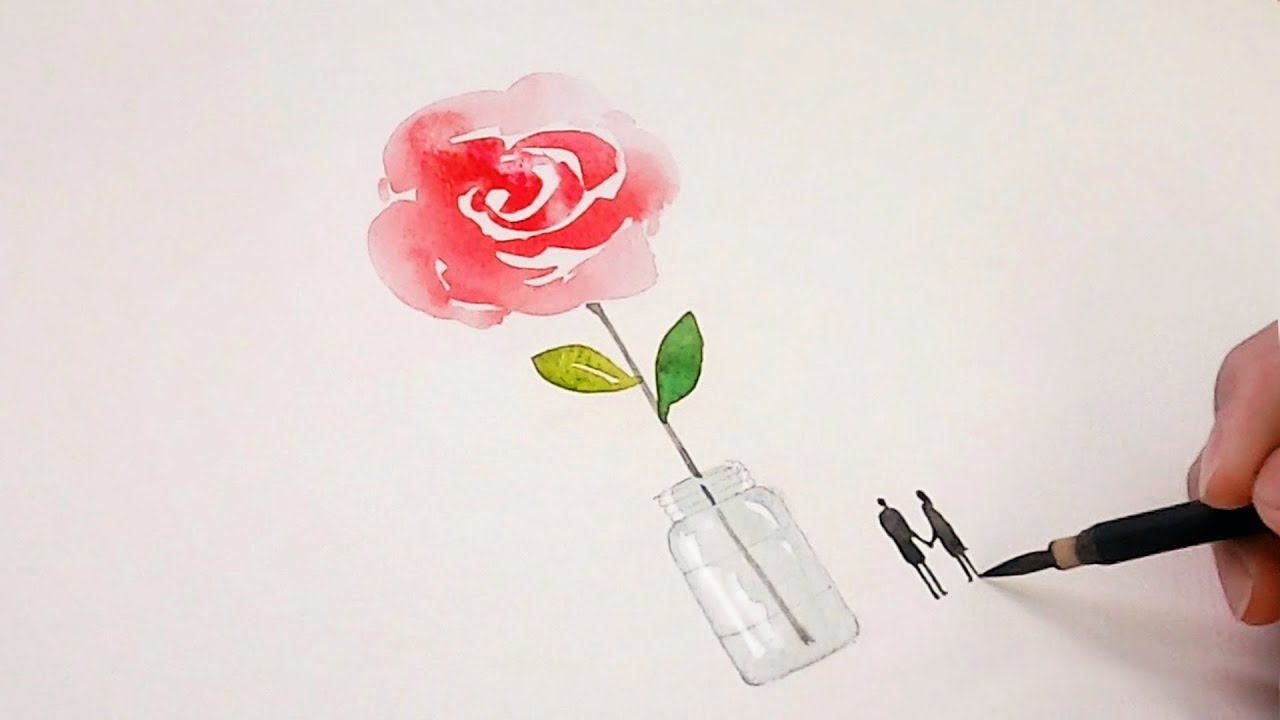 Love Poem - Painting a Watercolor Couple