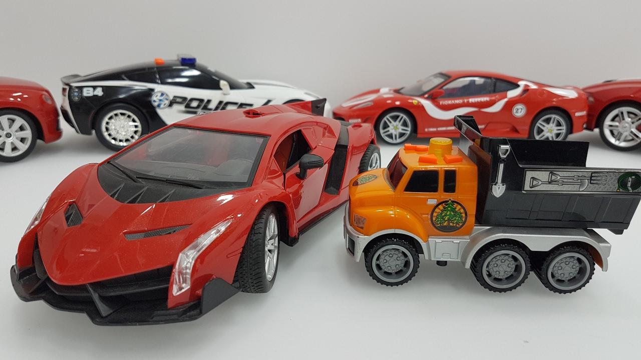ferrari garbage truck toys cars for children ferrari garbage truck toys cars for kids learning