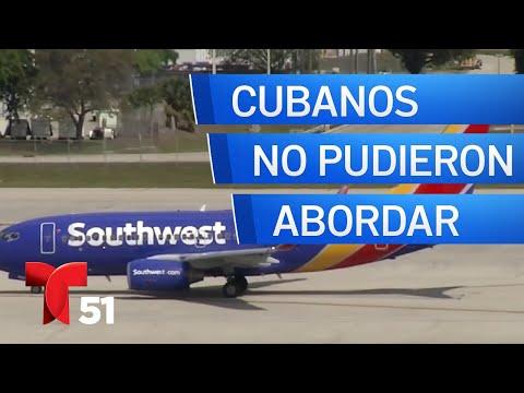 Cubanos que viajaban a Cuba por Southwest no pudieron abordar el vuelo