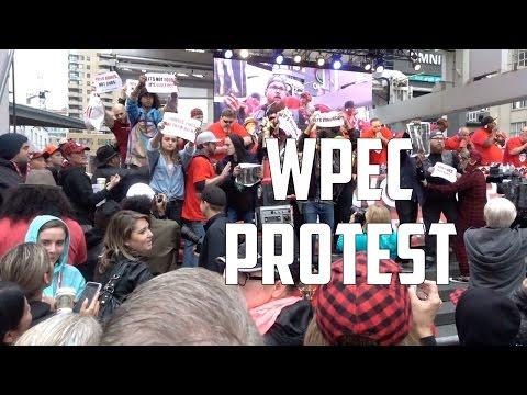 VEGANS PROTEST WORLD POUTINE EATING CONTEST | TORONTO, CANADA