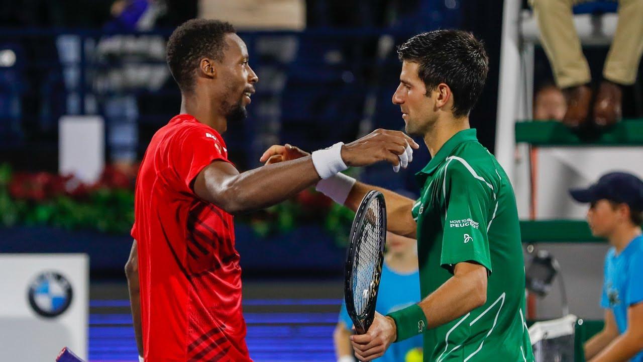 Highlights: Djokovic dissolves Monfils resolve in thriller - YouTube