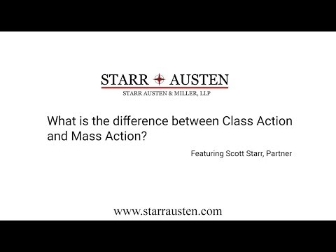 What is the difference between class action and mass action lawsuit?