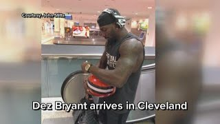 Photos emerge of Dez Bryant arriving for visit with Cleveland Browns