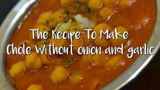 Chole without Onion and garlic/Jain Chole/Chole without tea bag