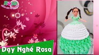 Bánh kem sinh nhật mẫu búp bê chibi mặc áo cưới dễ thương