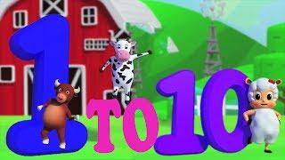 Numéros chanson 1 - 10 | Apprendre des nombres | éducative chanson | Numbers Song in French