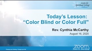 Color Blind Or Color Full By Rev. Cynthia McCarthy